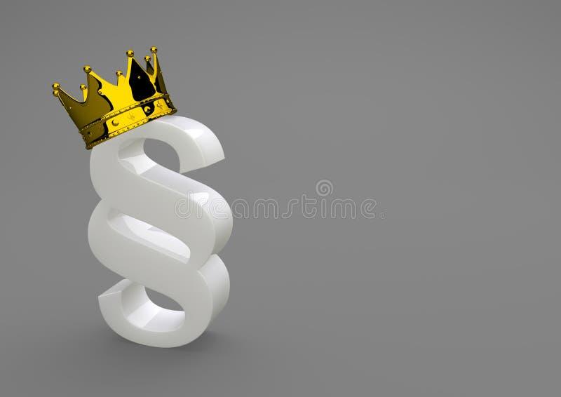 与金黄冠的白色瓷段 库存例证