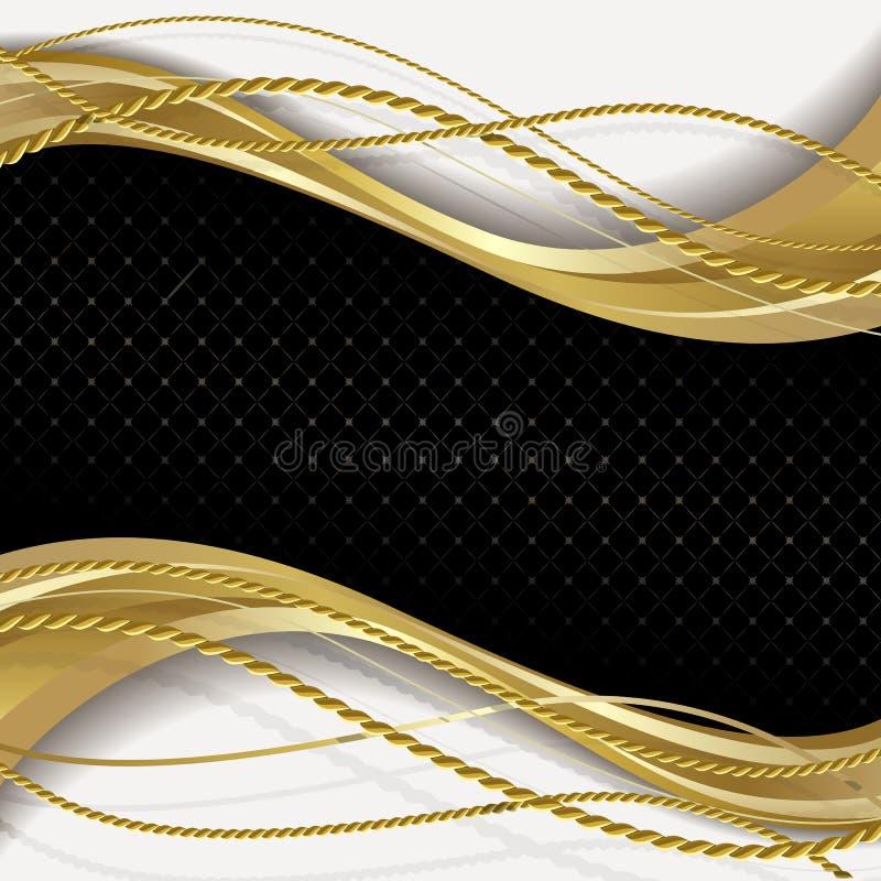 黑色和金背景 皇族释放例证