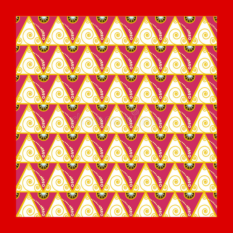 与金黄螺旋的背景东方动机 库存图片