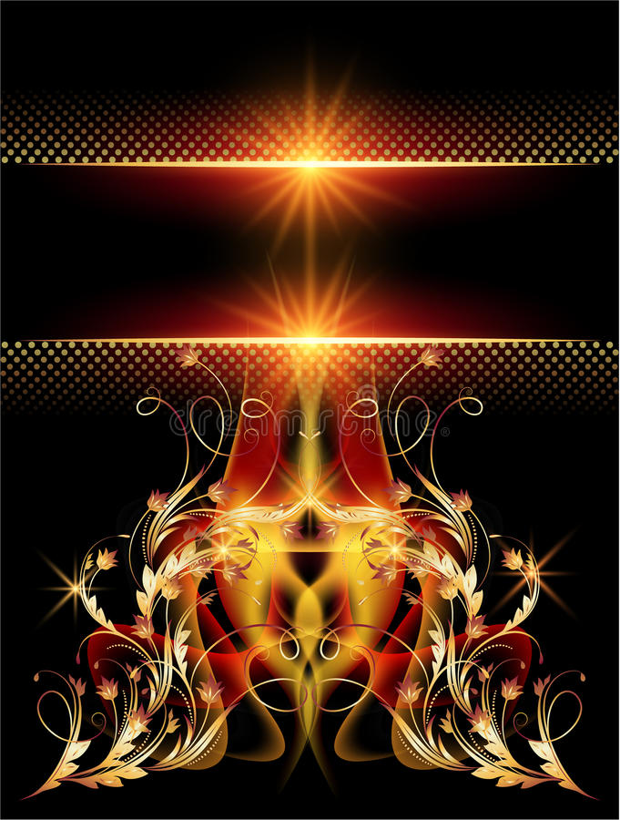 Download 与金黄装饰品的背景 向量例证. 插画 包括有 数字式, 看板卡, 金黄, 明信片, 背包, beautifuler - 30330894