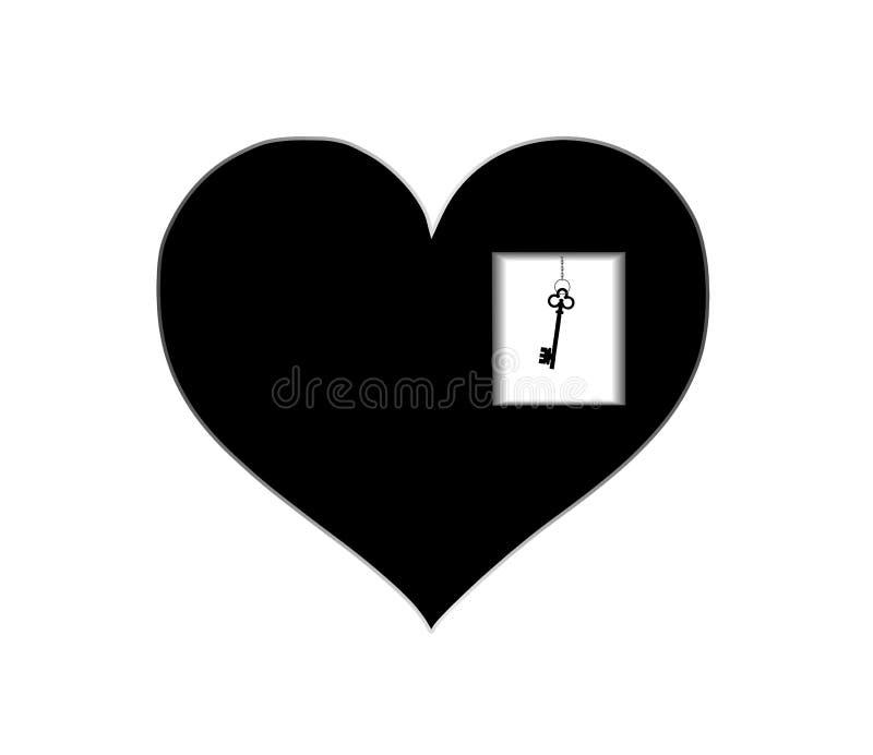 与钥匙的心脏 库存例证