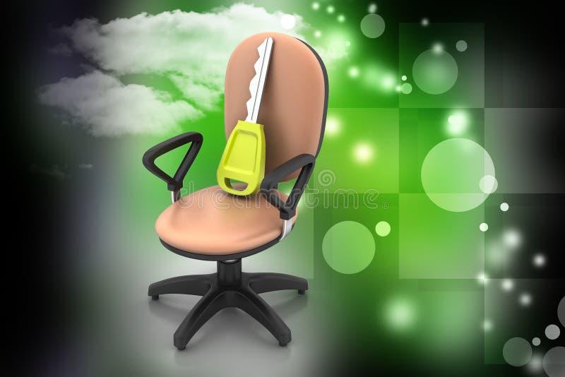 与钥匙的行政椅子 向量例证
