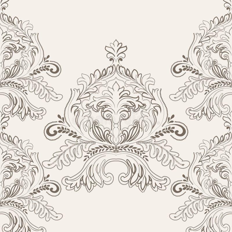 与钩针编织元素的精美锦缎装饰品 皇族释放例证