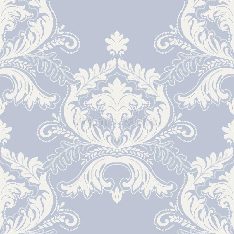与钩针编织元素的精美锦缎装饰品 向量例证