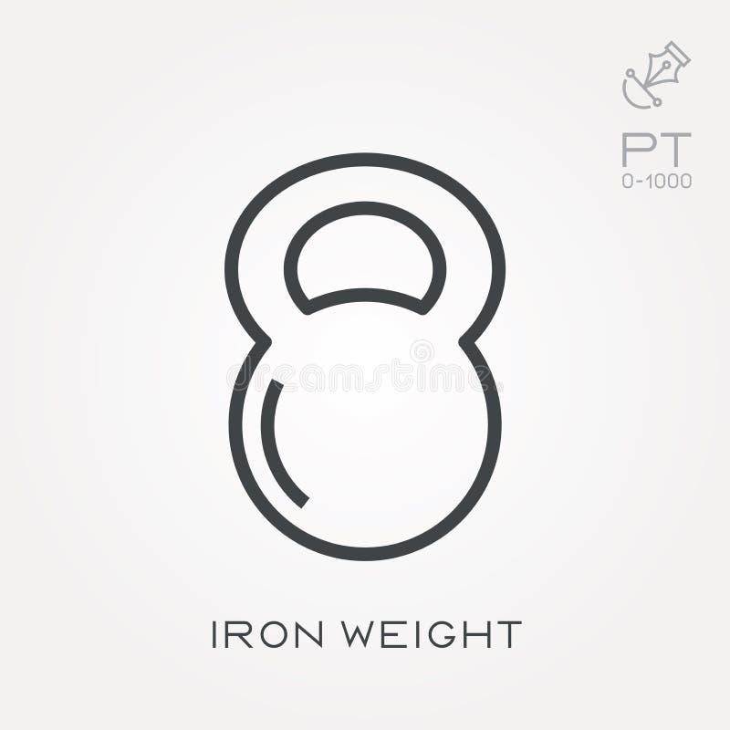 与铁重量的平的传染媒介象 皇族释放例证