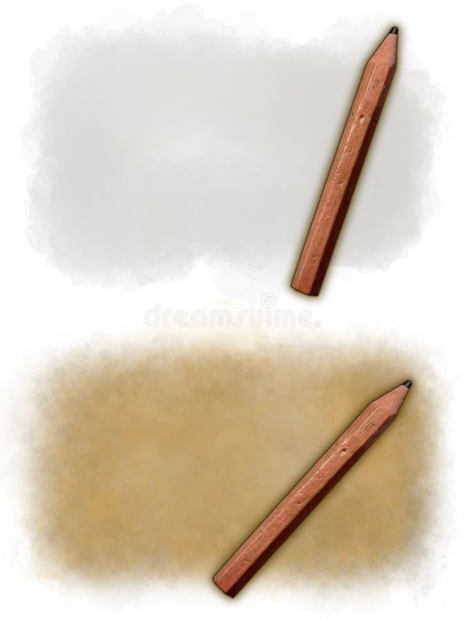 与铅笔的背景 免版税图库摄影