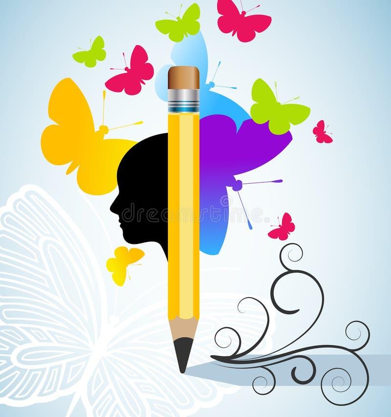 创造性和文字概念 皇族释放例证