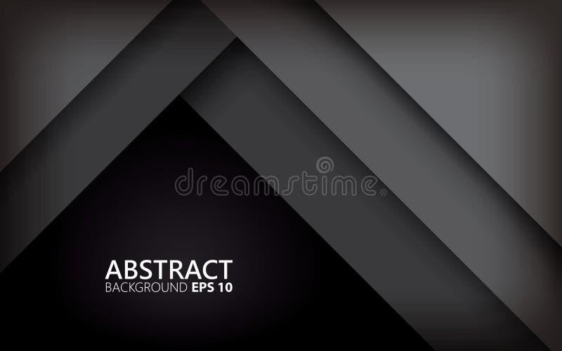 与银色光滑的黑抽象背景 最小的概念 皇族释放例证