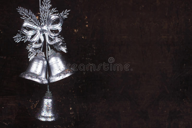 与银铃的圣诞节装饰 库存照片