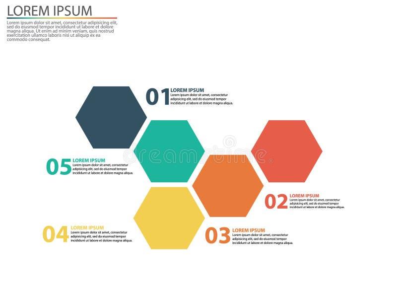 与销售漏斗的阶段的企业infographics 免版税图库摄影