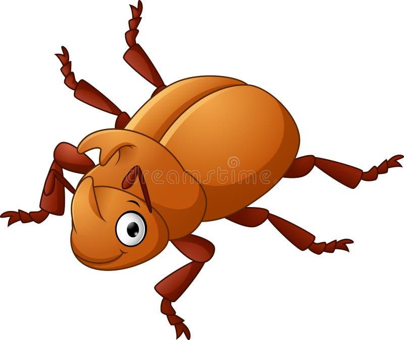 与锋利的垫铁的甲虫 库存例证