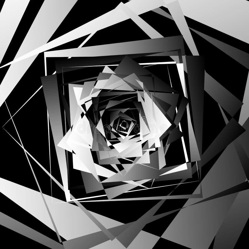 与锋利,有角的形状的抽象几何艺术 任意命令 库存例证
