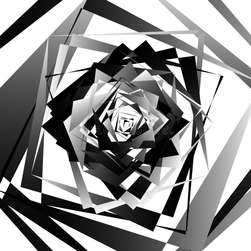 与锋利,有角的形状的抽象几何艺术 任意命令 向量例证