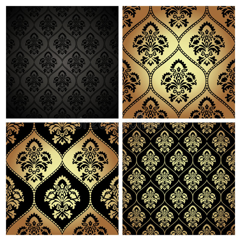 与锦缎主题的无缝的样式纹理 向量例证