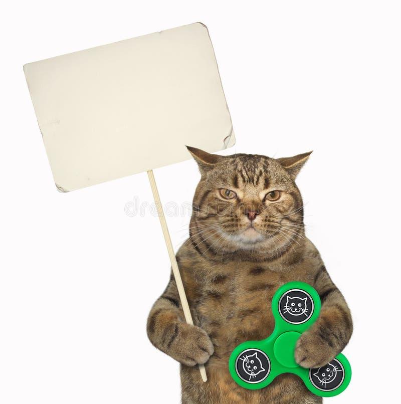 与锭床工人3的猫 库存图片