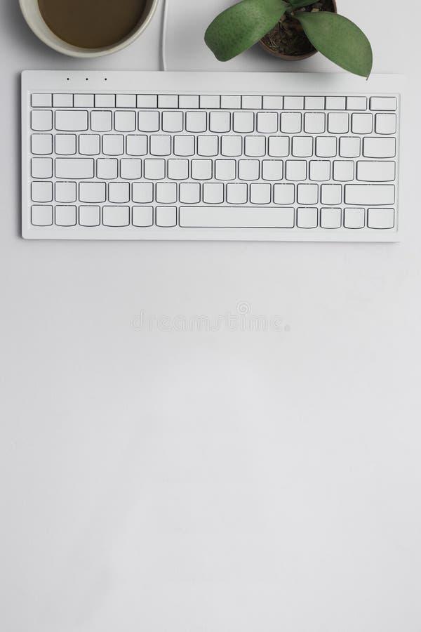 与键盘一起使用 库存照片