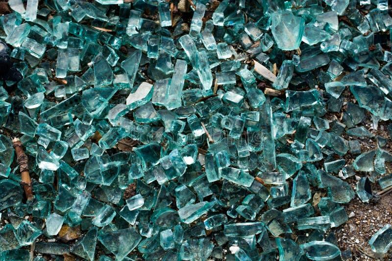 与镇压的被打碎的玻璃作为背景 库存图片