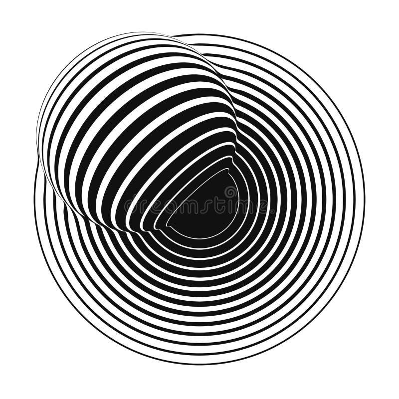 与镶边球形的同心圆 皇族释放例证