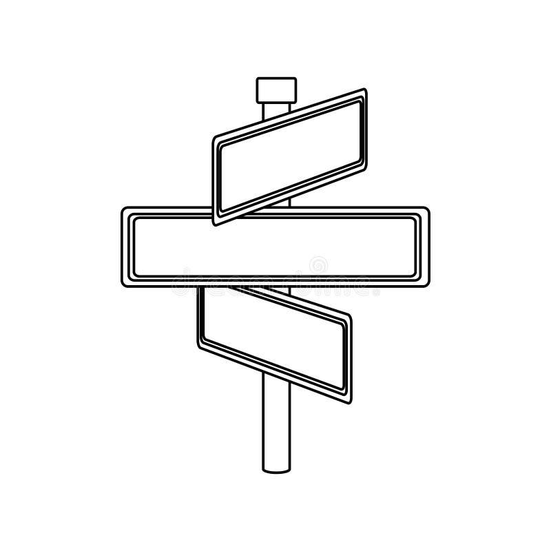 与长方形形状的单色等高与与三个方向的金属尖 皇族释放例证