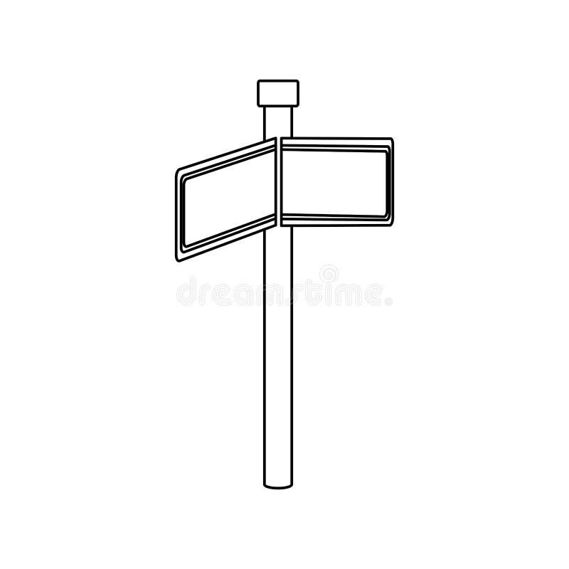 与长方形形状的单色等高与金属在角度的尖方向 向量例证