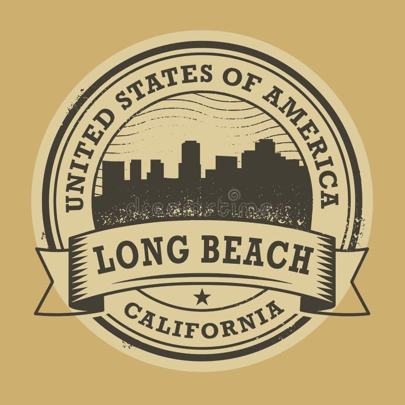 与长滩,加利福尼亚的名字的难看的东西不加考虑表赞同的人 库存例证