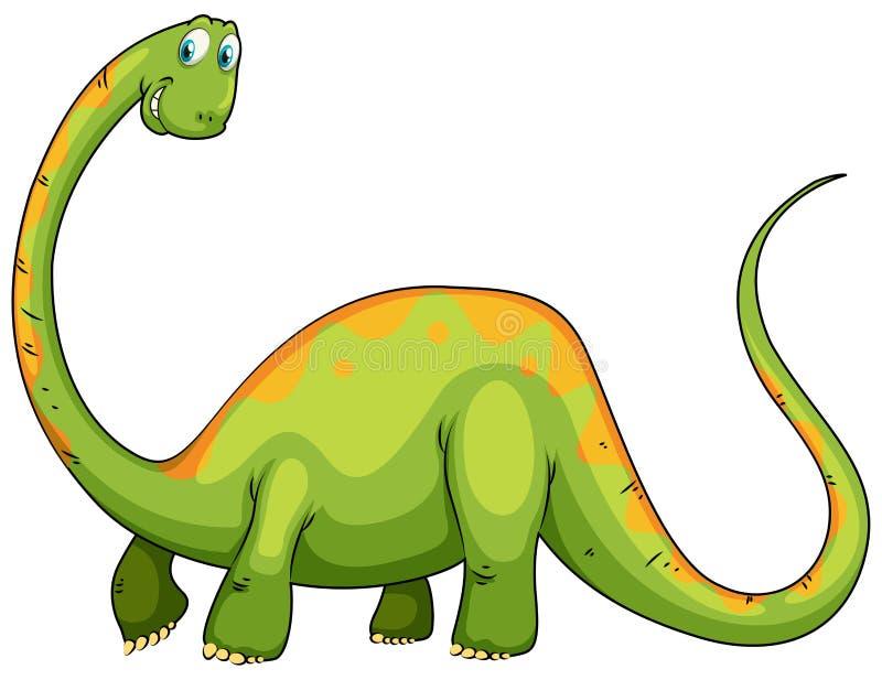 与长的脖子和尾巴的恐龙 皇族释放例证