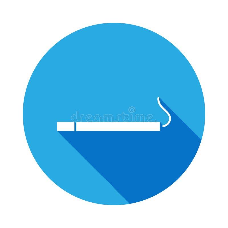 与长的阴影的闷燃的香烟象 网象的元素 r 标志和标志 库存例证