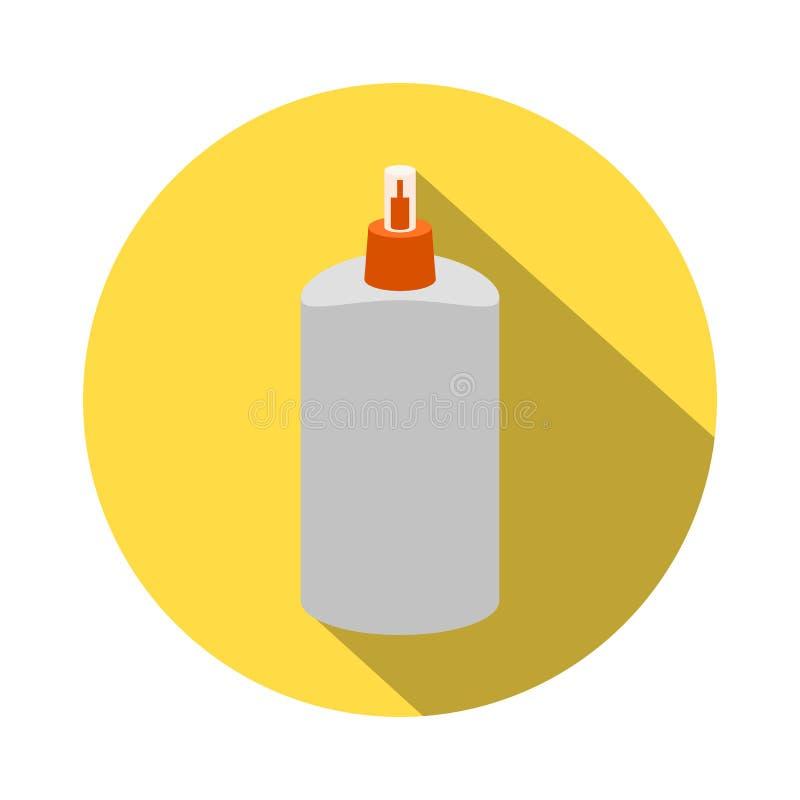 与长的阴影的平的样式,胶浆传染媒介象例证 库存例证