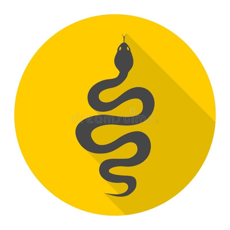 与长的阴影的蛇象 皇族释放例证