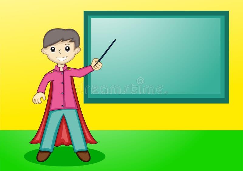 与长袍的超级老师教学 库存例证