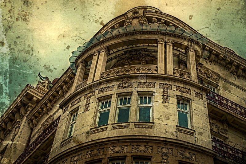 与门面的老照片在古典大厦 贝尔格莱德,塞尔维亚5 库存图片