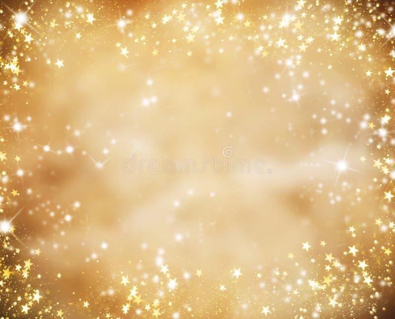 与闪烁星的抽象圣诞节背景 皇族释放例证