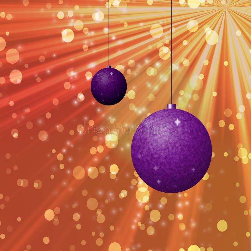 与闪烁的圣诞节装饰品 免版税库存照片