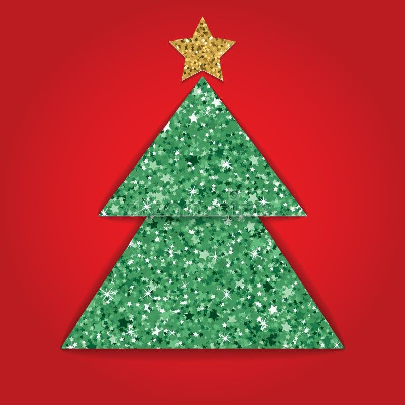 与闪烁纹理作用的层状被删去的纸圣诞卡 也corel凹道例证向量 向量例证