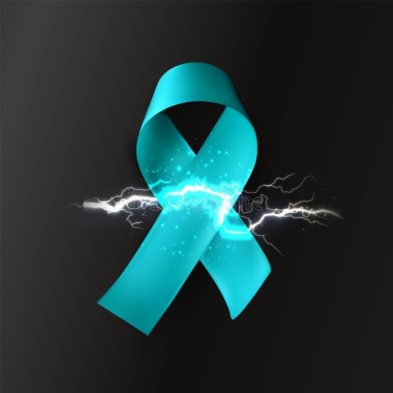 与闪电,神经病,神经病理学,医疗标志,突触信号,闪电传染媒介商标的丝带 皇族释放例证