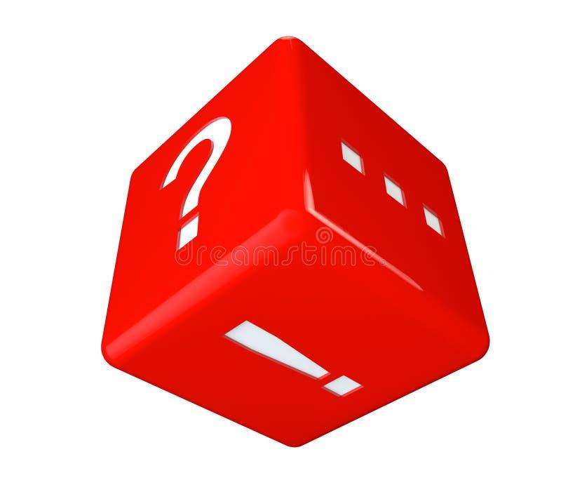 与标记的红色立方体 皇族释放例证