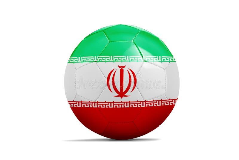 与队旗子,俄罗斯的足球2018年 伊朗 库存例证