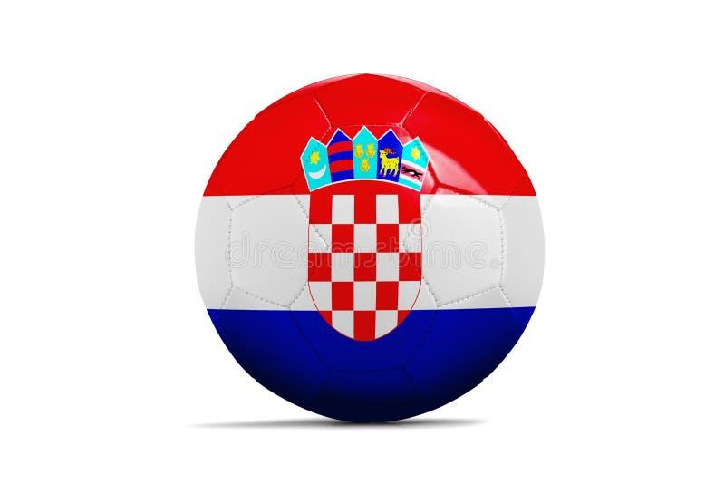 与队旗子,俄罗斯的足球2018年 克罗地亚 库存例证