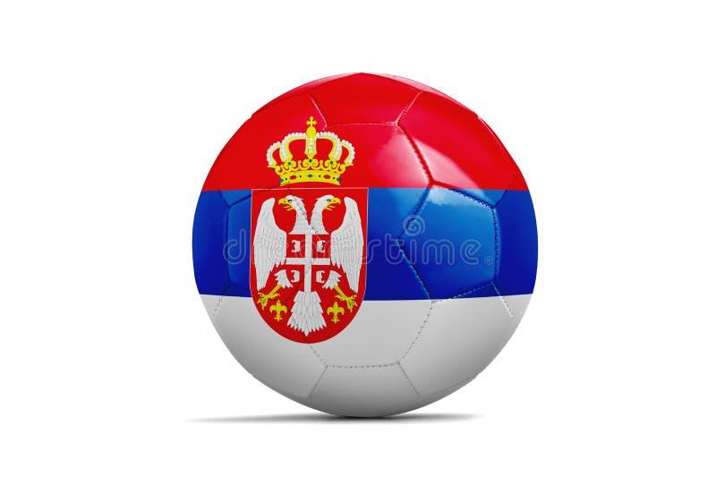与队旗子,俄罗斯的足球2018年 塞尔维亚 库存例证