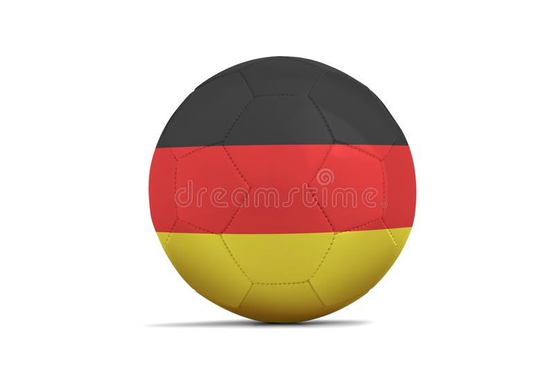 与队旗子,俄罗斯的足球2018年 德国 向量例证
