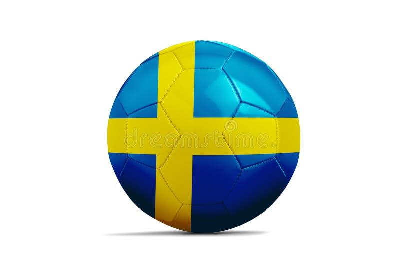 与队旗子,俄罗斯的足球2018年 瑞典 皇族释放例证