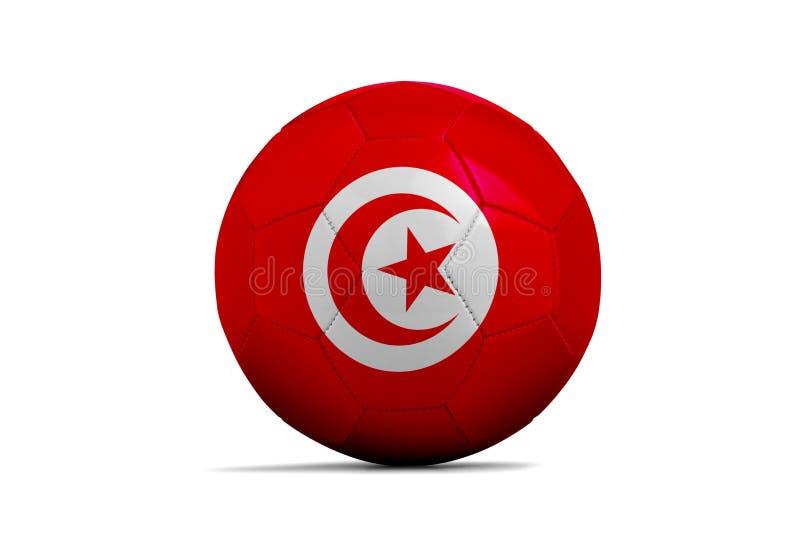与队旗子,俄罗斯的足球2018年 突尼斯 向量例证