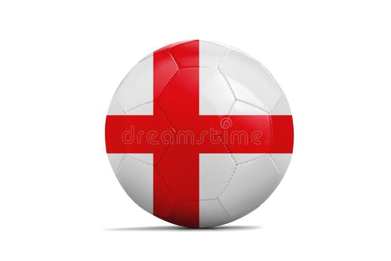 与队旗子,俄罗斯的足球2018年 英国 向量例证