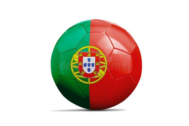 与队旗子,俄罗斯的足球2018年 葡萄牙 向量例证