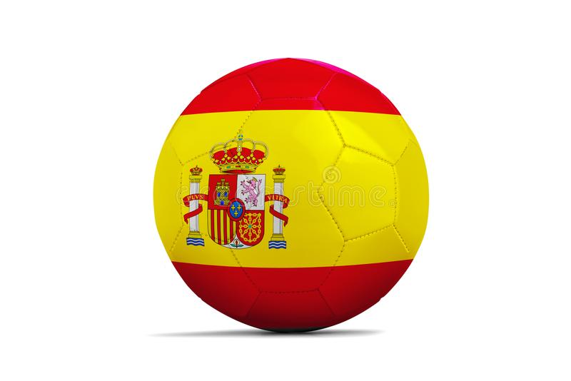 与队旗子,俄罗斯的足球2018年 西班牙 库存例证