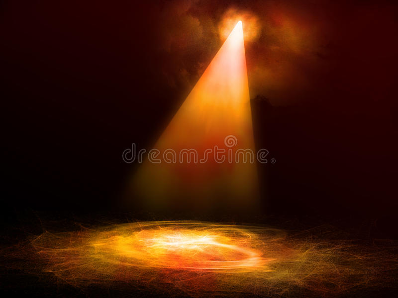 与阶段光的舞池执行的 向量例证