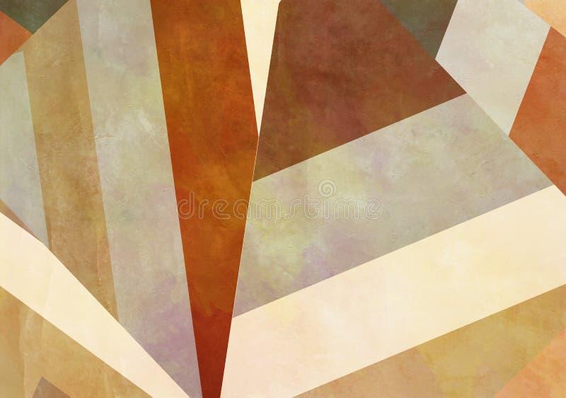 与难看的东西作用的五颜六色的减速火箭的纸背景 库存例证