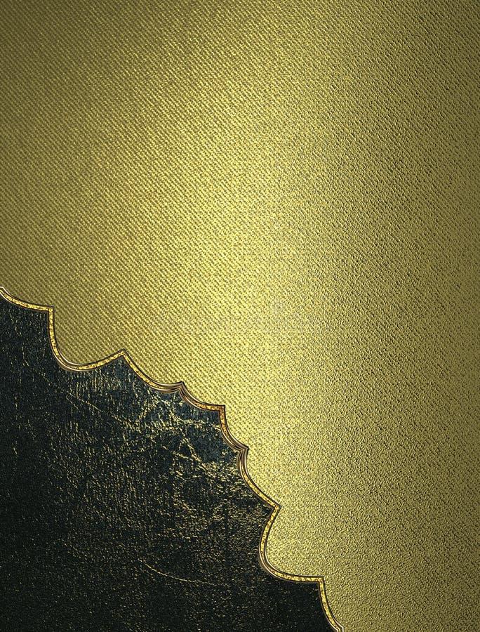 与难看的东西保险开关的金子纹理秀丽的 设计的模板 复制广告小册子或公告邀请的空间 库存例证