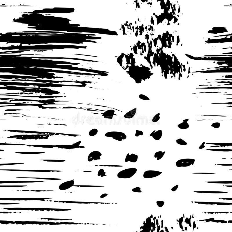 与难看的东西手拉的纹理的传染媒介无缝的样式 皇族释放例证