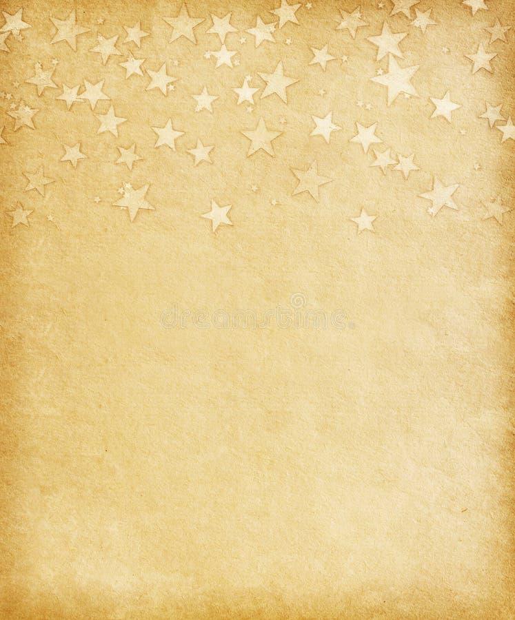 与难看的东西星的葡萄酒纸 库存照片